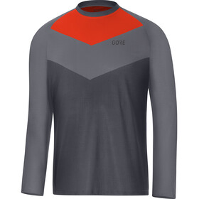 GORE WEAR C5 Trail Long Sleeve Jersey Men terra grey/orange